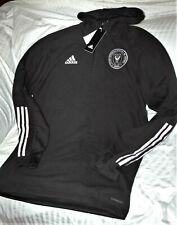 Inter Miami FC Herons Adidas 1/4 zip hooded travel jacket men's MEDIUM NWT MLS