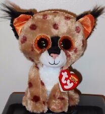 "Ty Beanie Boos ~ BUCKWHEAT the 6"" Lynx ~ Stuffed Plush Toy ~ NEW with MINT TAGS"