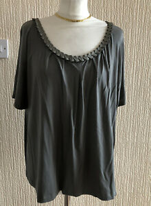 Marks and Spencer UK 24 Sage Green T Shirt Top BNWT