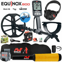Minelab EQUINOX 800 Metal Detector with Pro Find 35, Carry Bag, Finds Pouch