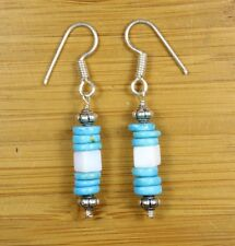 Natural Turquoise,White Opal Earrings Handmade Jewelry
