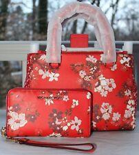 NWT Michael Kors Kellen  Crossbody Satchel Bag Leather and Wallet