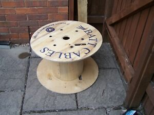 24 INCH 60CM WOODEN CABLE DRUM REEL PLYWOOD PROJECT TABLE INDUSTRIAL WORCESTER