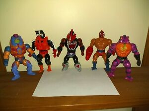 Vintage HE- MAN MOTU Lot (5) 1986 MOSQUITOR & Others Good Condition