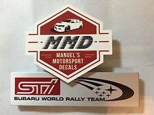 SUBARU STI World Rally Team     WRX BRZ LIBERTY FORESTER Badge Decal