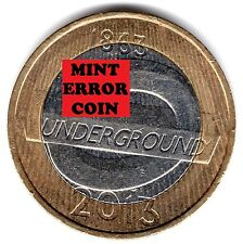 2013 2 EUR * error mula * London Underground luminosa 150TH dos libras 26/32 2
