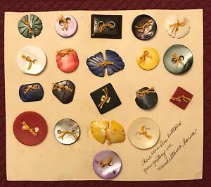 Lot 20 Vintage Buttons, Marshalltown, Iowa Button Factory