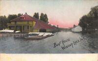 Postcard Boat House in Winona Lake, Indiana~124125