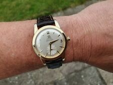 OMEGA SEAMASTER WATCH SUB SECONDS 14K GOLD FILLED CAL.344 BUMPER AUTOMATIC 1954