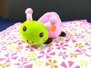 Graco Lovey Ladybug Plush Blanket Flowers Pink Cute Security Baby Infant Soft