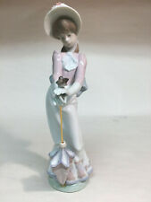 """""""Garden Song"""" collectible vintage porcelain figurines Lladro #7618 girl w/bird"""