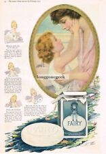 1919 FAIRY SOAP Child Looking Into Mother's Eyes art Vtg Print Ad