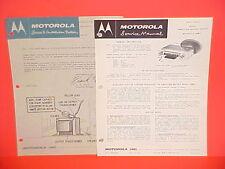 1959 AMC RAMBLER AMBASSADOR AMERICAN REBEL MOTOROLA AM RADIO SERVICE MANUAL 1