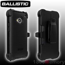 GENUINE Ballistic SG MAXX Case for HTC One M7 801 Black Tough Corners +Belt Clip