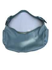 VGUC Milleni Blue Pebble Italian Leather Shoulder Hobo Purse Bag Made In Italy