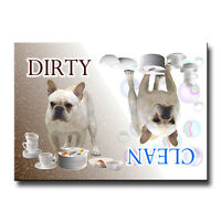 FRENCH BULLDOG Clean Dirty DISHWASHER MAGNET No 1 DOG