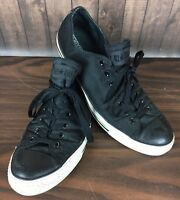 Converse All Star Low Top Sneakers Shoes Mens 11.5 Black Textile Low Top