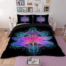 Dragonfly Black Duvet Cover Set Twin Full Queen King Size Bedding Set Pillowsham