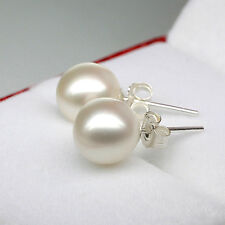 Gorgeous Freshwater Pearl Stud Earrings 925   Sterling Silver Wedding Jewellery