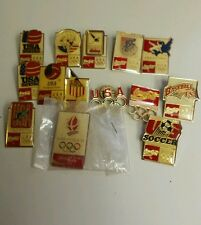 olympics game pin lot 14 1992 olympics official 5 rings USA nice!!!!!!