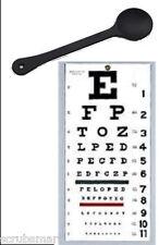 "OCC-SNW Set - OCCLUDER + Wall Snellen Eye Exam Vision Test Chart 22"" x 11"""