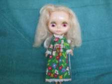 Vintage 1972 Blonde Blythe Doll With Original Love N Lace Green Dress