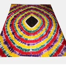 COUVRE-LIT COUVERTURE bandhani batik coton fait à la main Colorant tissu déco 19