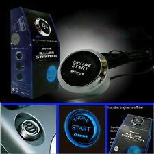 12V Car Engine Start Push Button Switch Ignition Starter Kit Blue LED Stylish