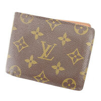 Louis Vuitton Wallet Purse Monogram Brown Woman unisex Authentic Used T568