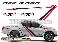 Mitsubishi L200 034 Side Racing Rayure Autocollants Decals Graphics 4x4 offroad
