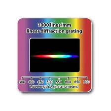 Holographic Diffraction Grating Slide Linear 1000 lines/mm Laser Spectrum Lamp