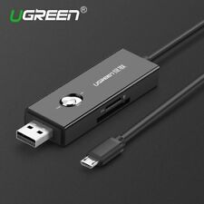 UGREEN Multi SD Card Reader USB to Micro USB Charging Cable for Micro SD,SD Card