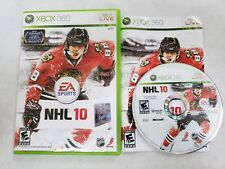 NHL 10 (Microsoft Xbox 360, 2009) (Complete) FREE FAST SHIPPING