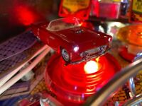 BIG Red Thunderbird Twilight Zone Pinball Deluxe Lighted Mod 55 T-Bird