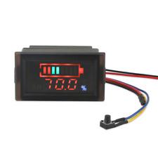 DROK Waterproof LED Digital Battery Volt Meter DC 12V 24V 36V 48V 60V 64V 72V