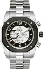 Bulova Marine Star Men's 98B137 Chronograph Quartz Silver Tone 45mm Watch