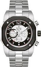 Bulova Marine Star Men's 98B137 Chronograph Quartz Silver Tone 45mm Watch
