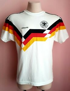 Germany 1988 - 1990 West Germany football Adidas cotton shirt size L