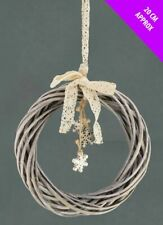 Natural Willow Wooden Wreath Decoration & Hanging Snowflake Christmas Craft Base