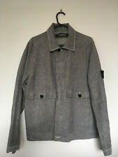 Stone Island Compact Linoflax Military Jacket - Grey, Size Medium