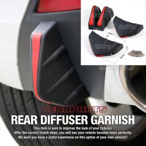 Bumper Diffuser Molding Point Garnish Air Spoiler Cover Black Red for DAIHATSU