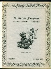 Miniature Doll Fashions 1869-1920 with Patterns - Beverly Dahl 1982