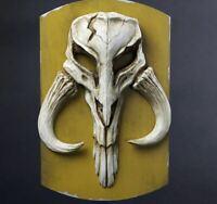 """Star Wars The Mandalorian Skull Wall Plaque Boba Fett 11"""" Lucasfilm Official"""
