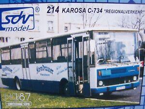 SDV Karosa BUS C734 Regional transport Plastic Model Kit 1/87 H0 Czech Republic