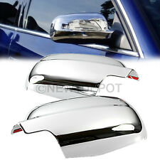 Triple Chrome Side Mirror Cover Trim For VW Jetta Golf Mk4 Passat B5 1999-04 ND