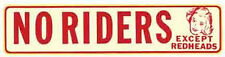 No Riders-Except... Hot Rod  Vintage-Style Travel Decal