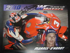 Wim Motors Fun Racing Team Honda 2010 #3 Marnix D'Hondt (B) signed