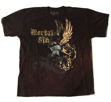 SKULL - Mortal Sin - Helmet Wings - dark brown batik - T-Shirt - Größe Size XL