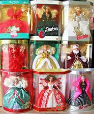 Lot of 9 NEW IN BOX Happy Holidays Barbie Special Edition 1990 thru 1998