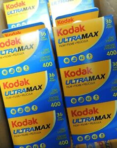 **FRESH** - KODAK ULTRMAX 400asa 35mm 36Exp COLOUR NEGATIVE PRINT FILM X 3 ROLLS